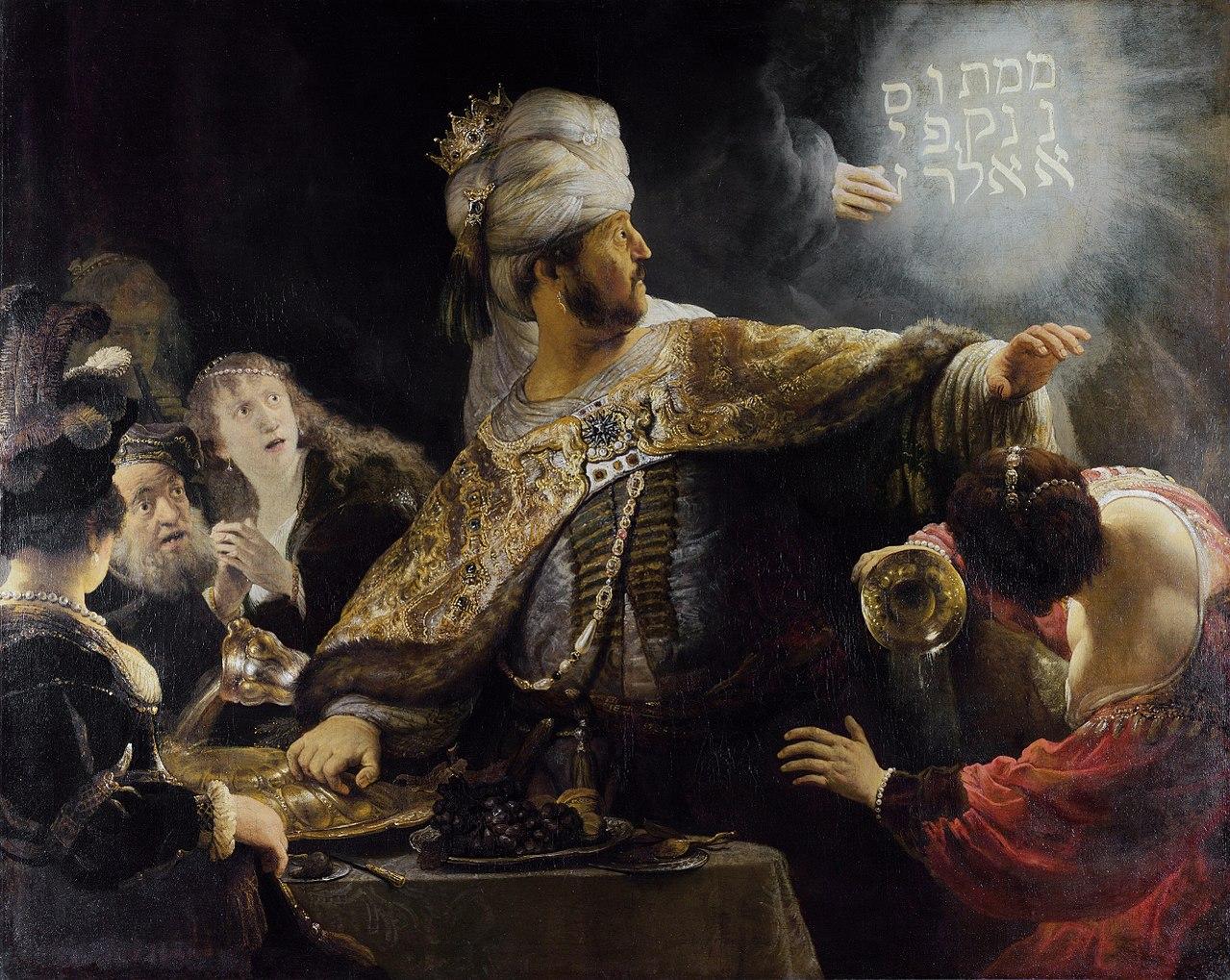 Het feestmaal van Belsazar door Rembrandt -