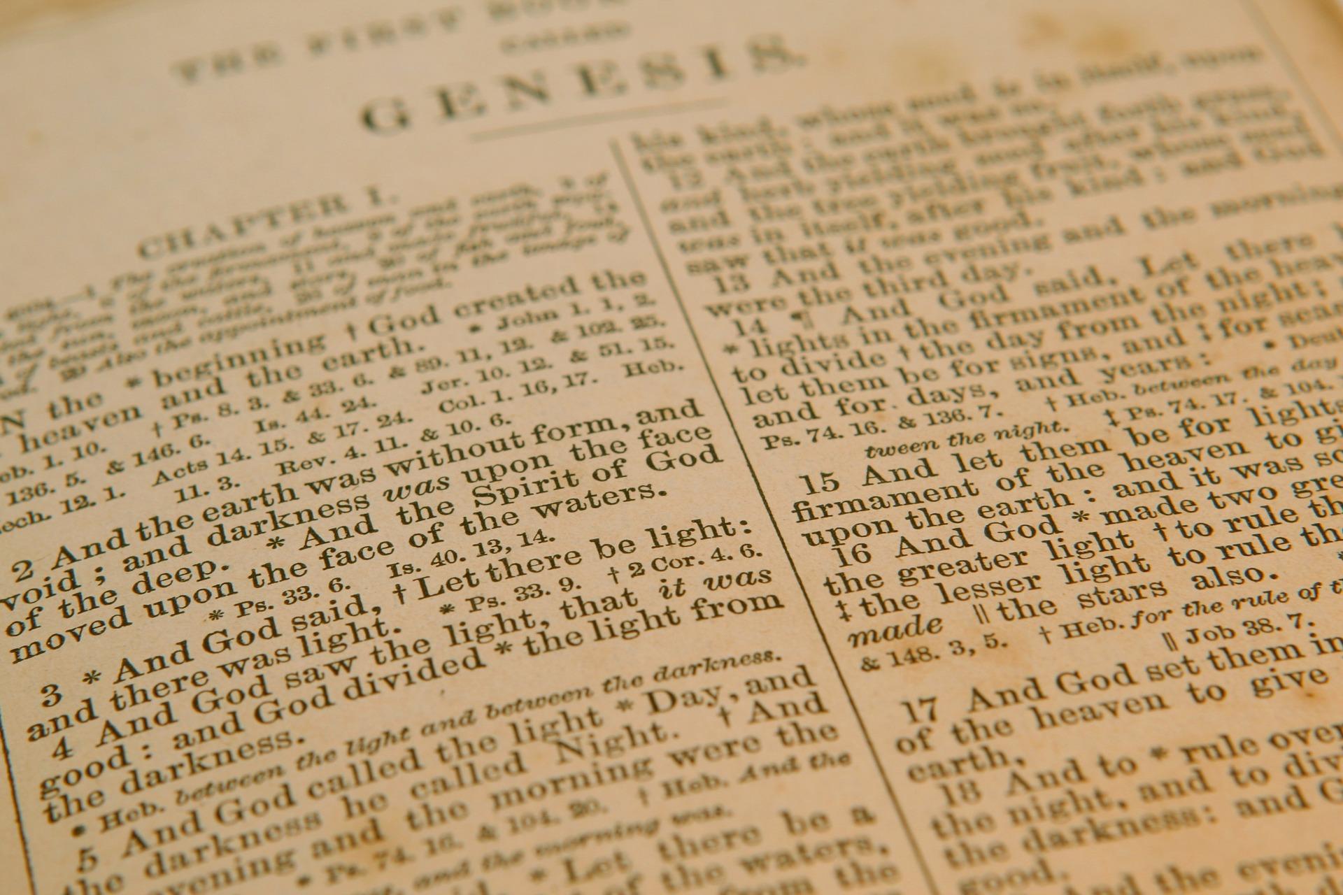 Bijbel, Genesis 1