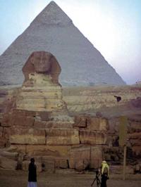 Egyptische sphinx en piramiden