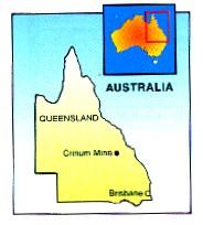 Kaart van Queensland