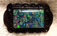 Mozaic inleg met opalen, foto R. Weller/Cochise College